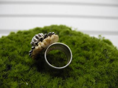 Silber-Horn-Ring