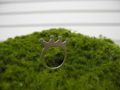 Kronen-Silberfingerring